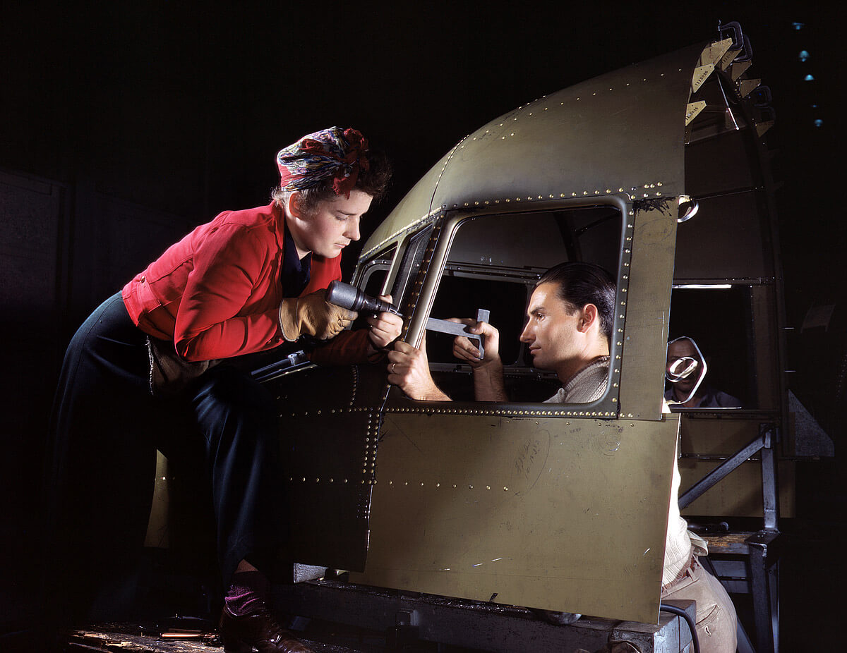 repülőgép, amerikai szerelők