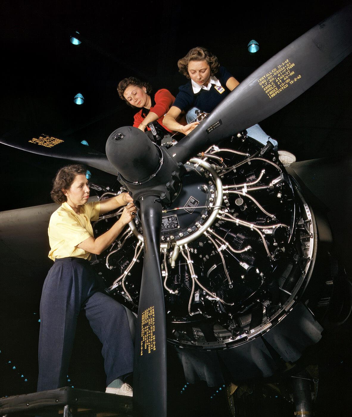 repülőgép, amerikai szerelők, propeller
